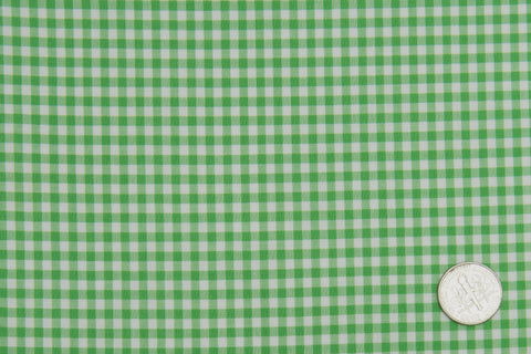 Lincon Green Gingham on White