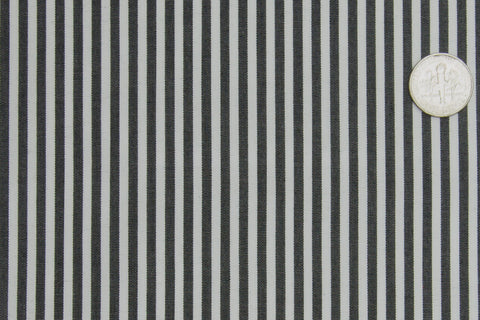 Dark Black Pencil Stripes On White