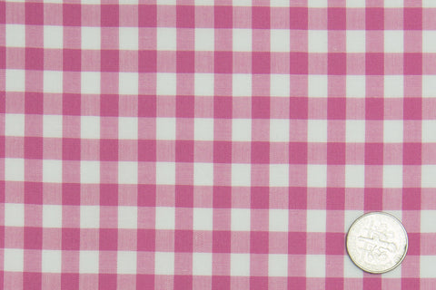 Bright Pink Bold Gingham on White