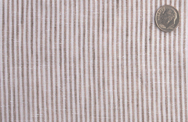 Albini Linen: Brown White Dress Stripes