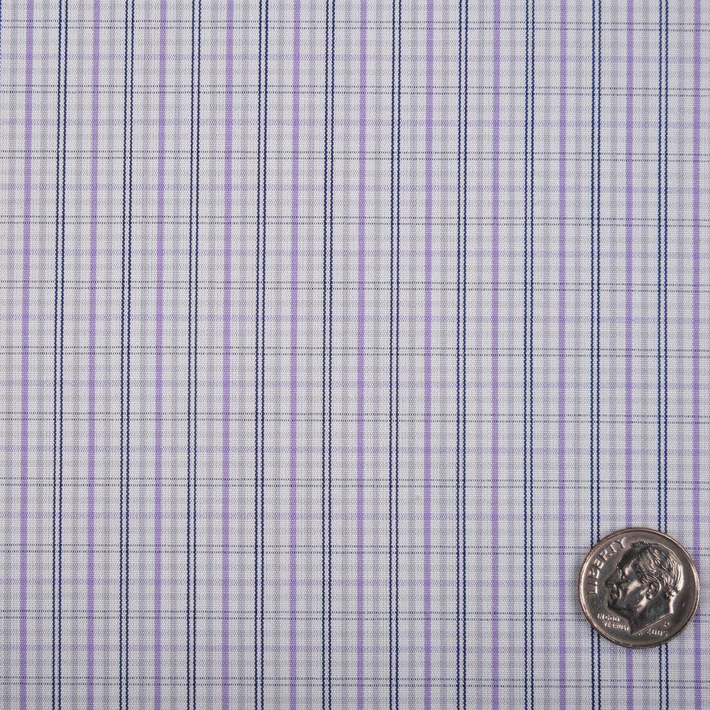 Alumo Navy and Purple Tattersall Checks