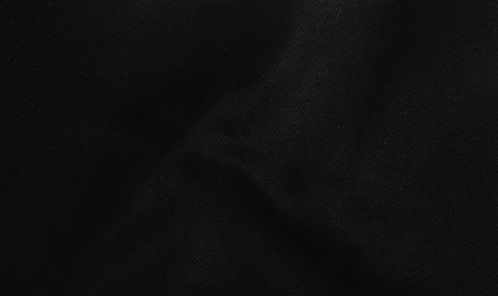 True Black Ebon Cotton Twill