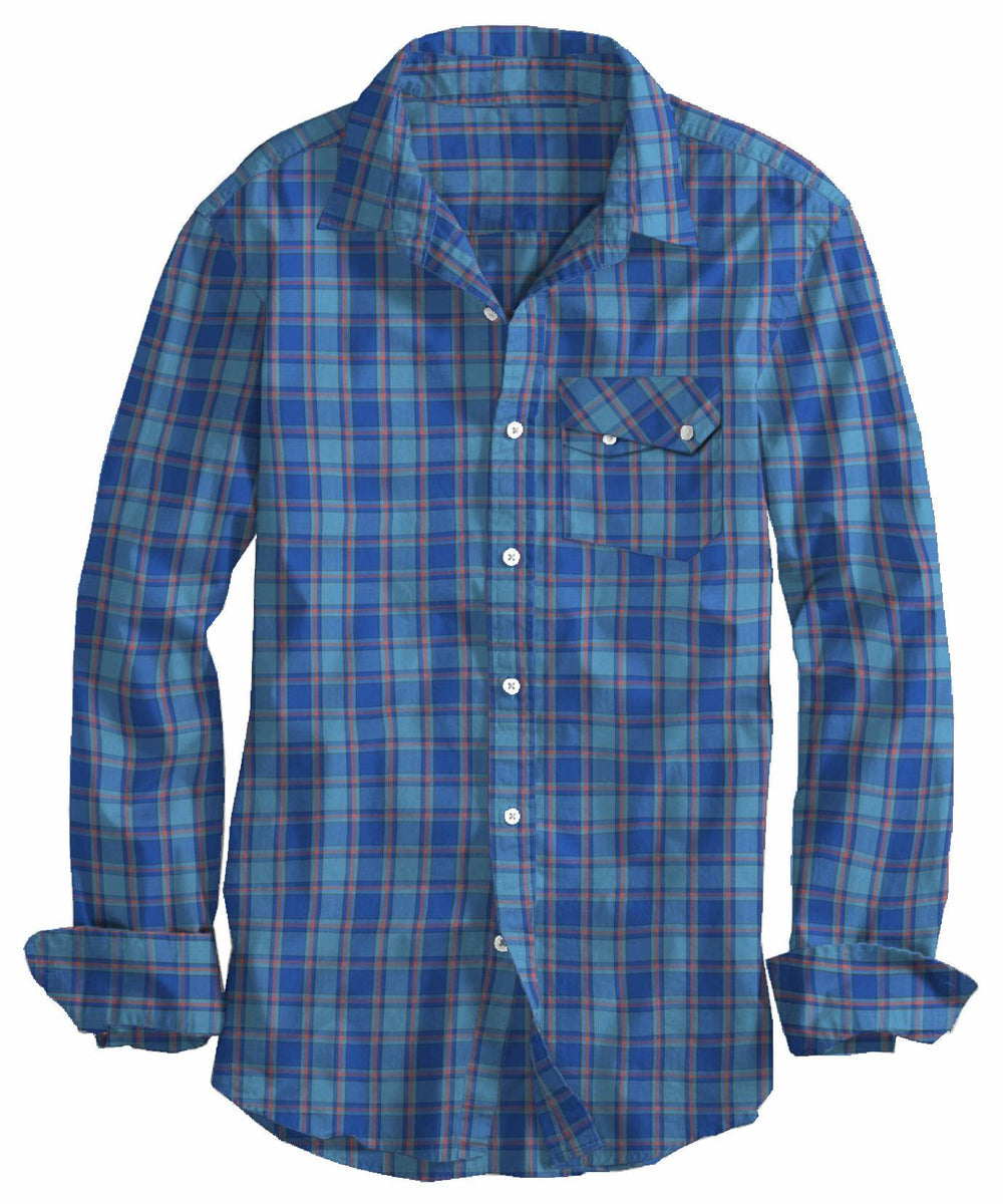 Dark Light Blue Orange Checks (4208370116)