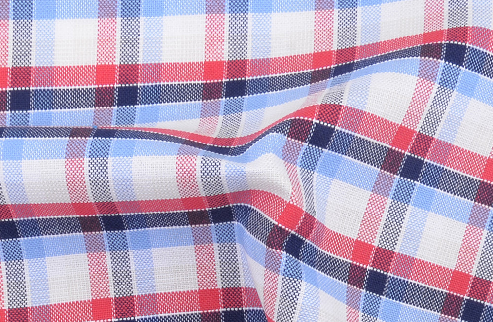 Red Blue White Tartan Checks Oxford (4214782276)