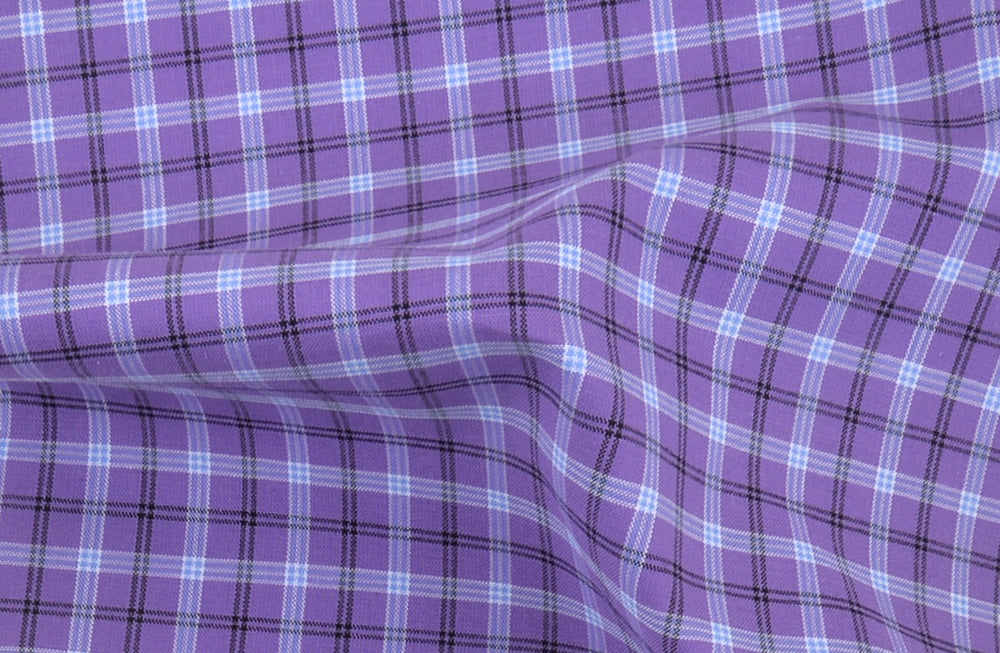 Black Blue Tattersall Checks On Purple (4208368196)