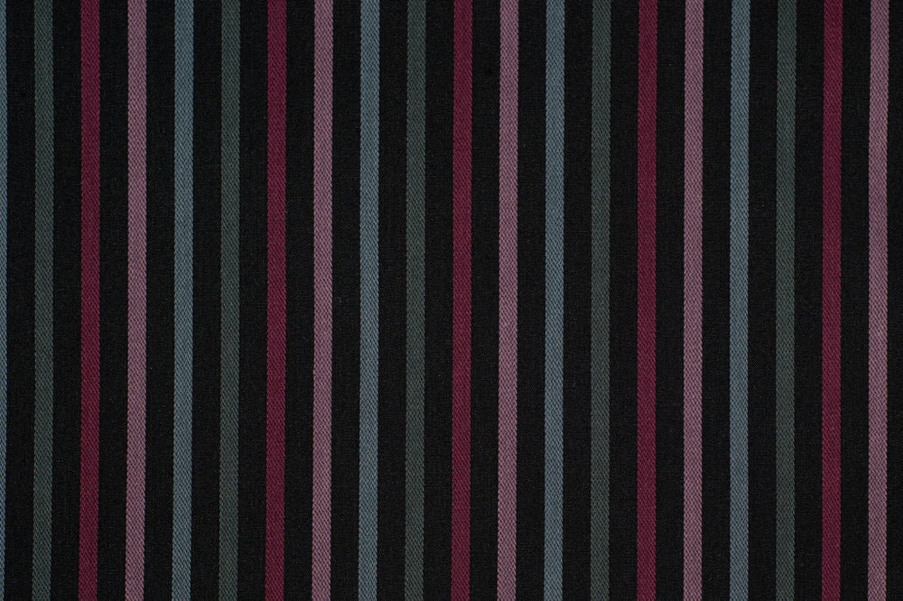 Black With Multicoloured Stripes