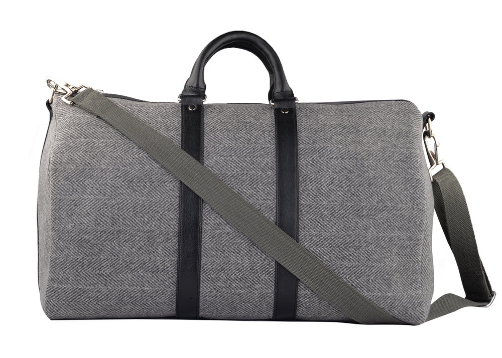 Duffle Bag with Leather Trims