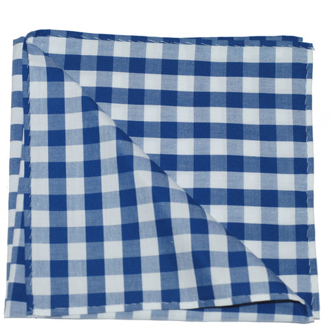 Pocket Square - Blue Gingham
