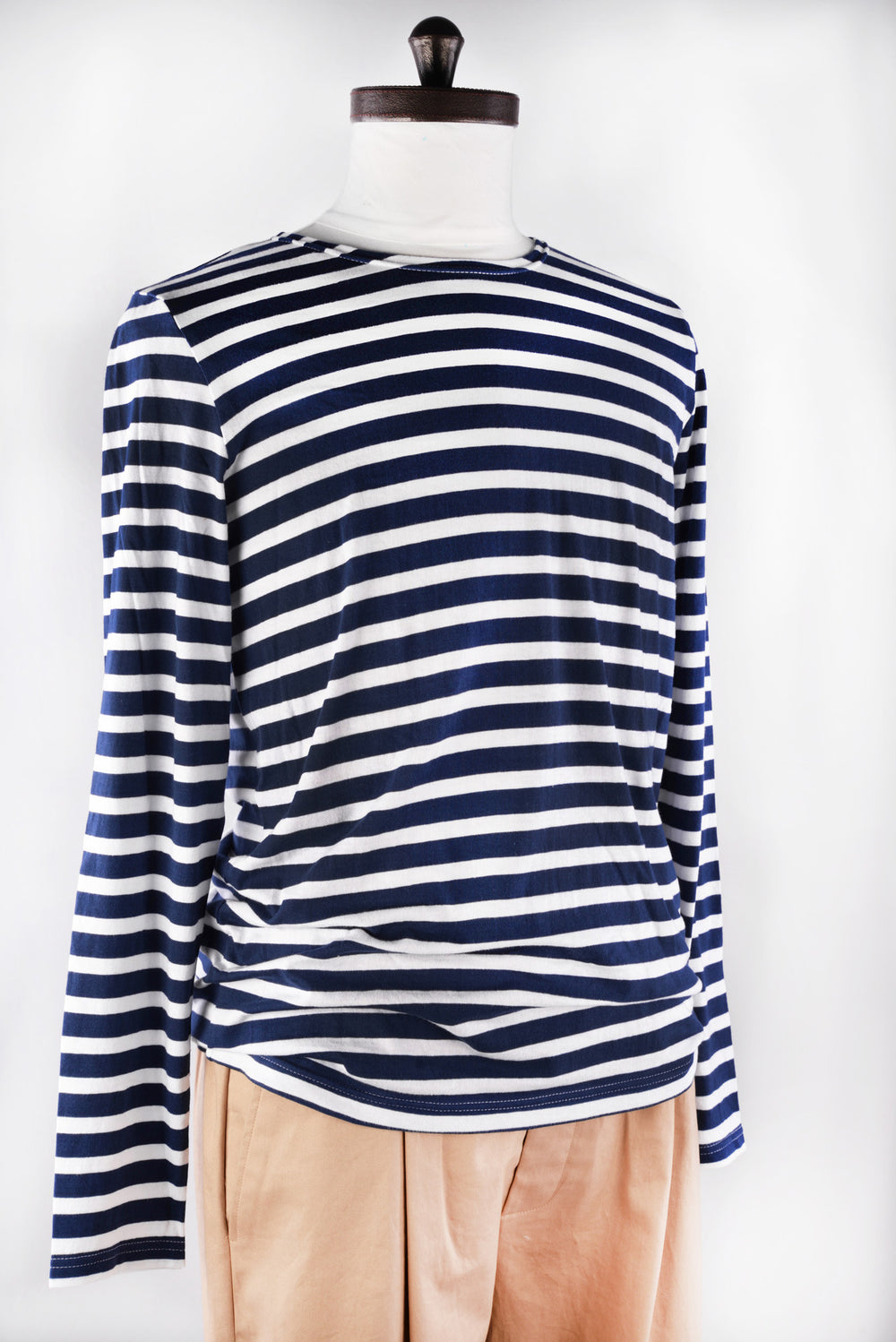 Navy white Striped T-Shirt (992115396)