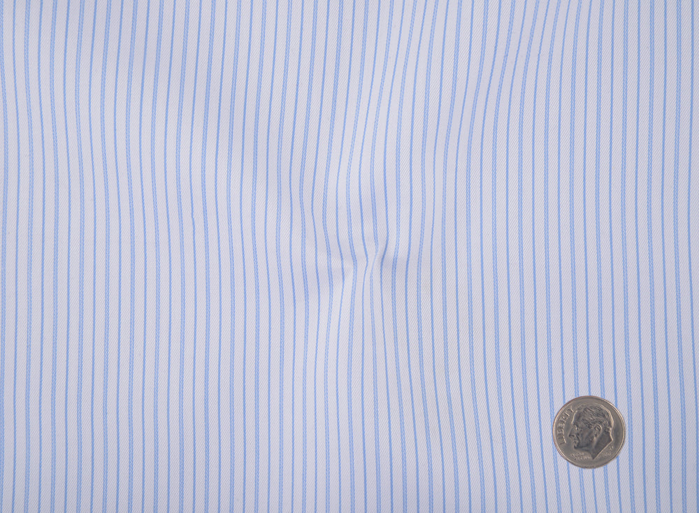 Baby Blue Whtile Pencil Stripes Shirt