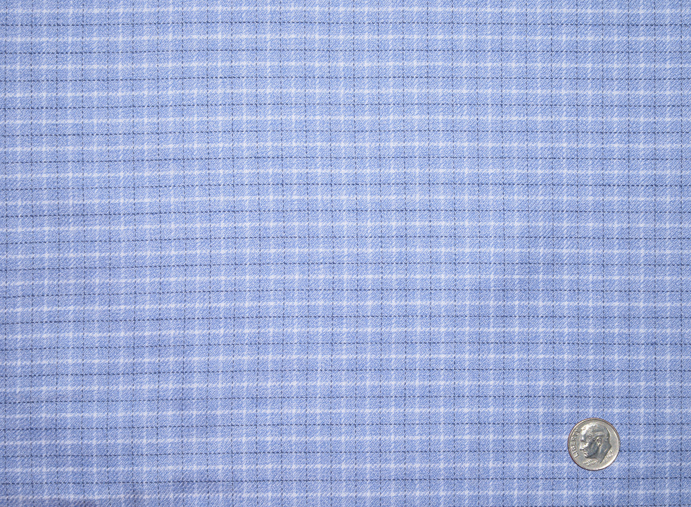Dark Blue Light Blue & White Tattersall Checks