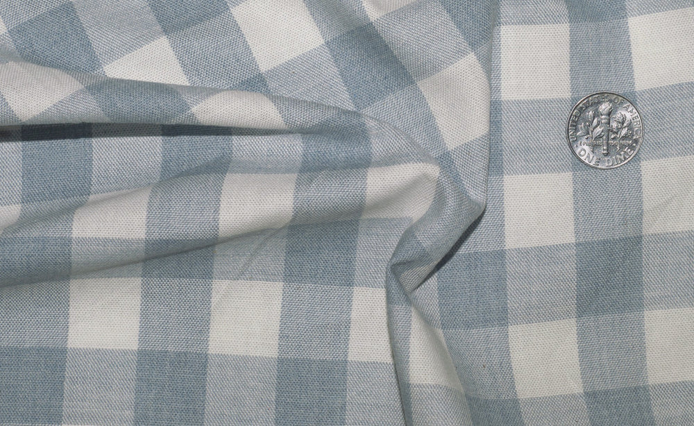 Washed Indigo Cream Gingham (272560877)