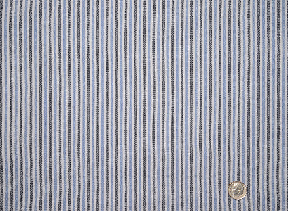 Dark Blue With Black Stripes On White Shirt
