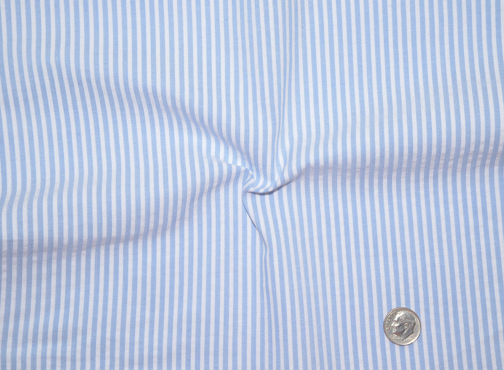 Arctic Blue White Stripes Seersucker Shirt