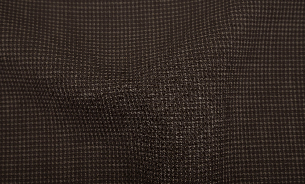 Drapers Tobacco Brown Micro Houndstooth Pants