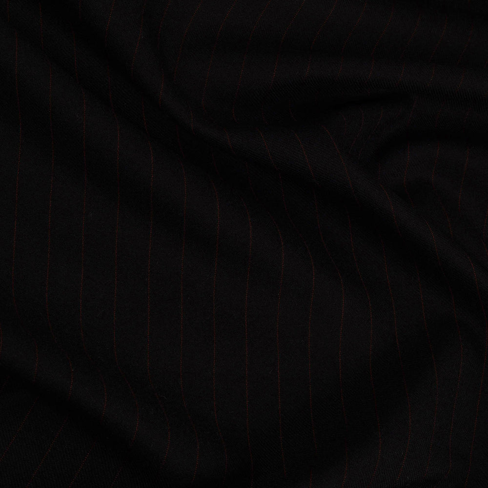 Dugdale Royal Classic: Black Twill with Brown Pinstripes