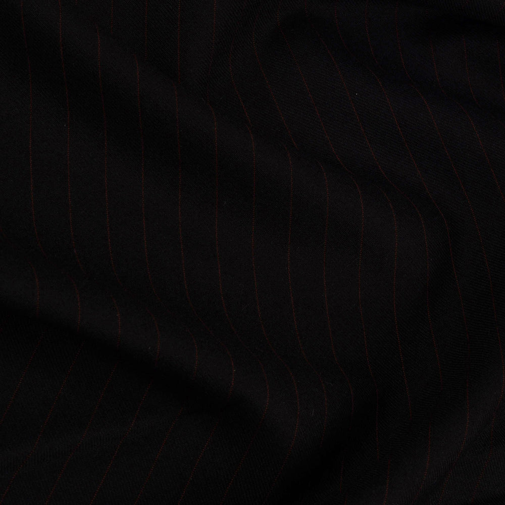 Dugdale Royal Classic: Black Twill with Brown Pinstripes (4370789269559)