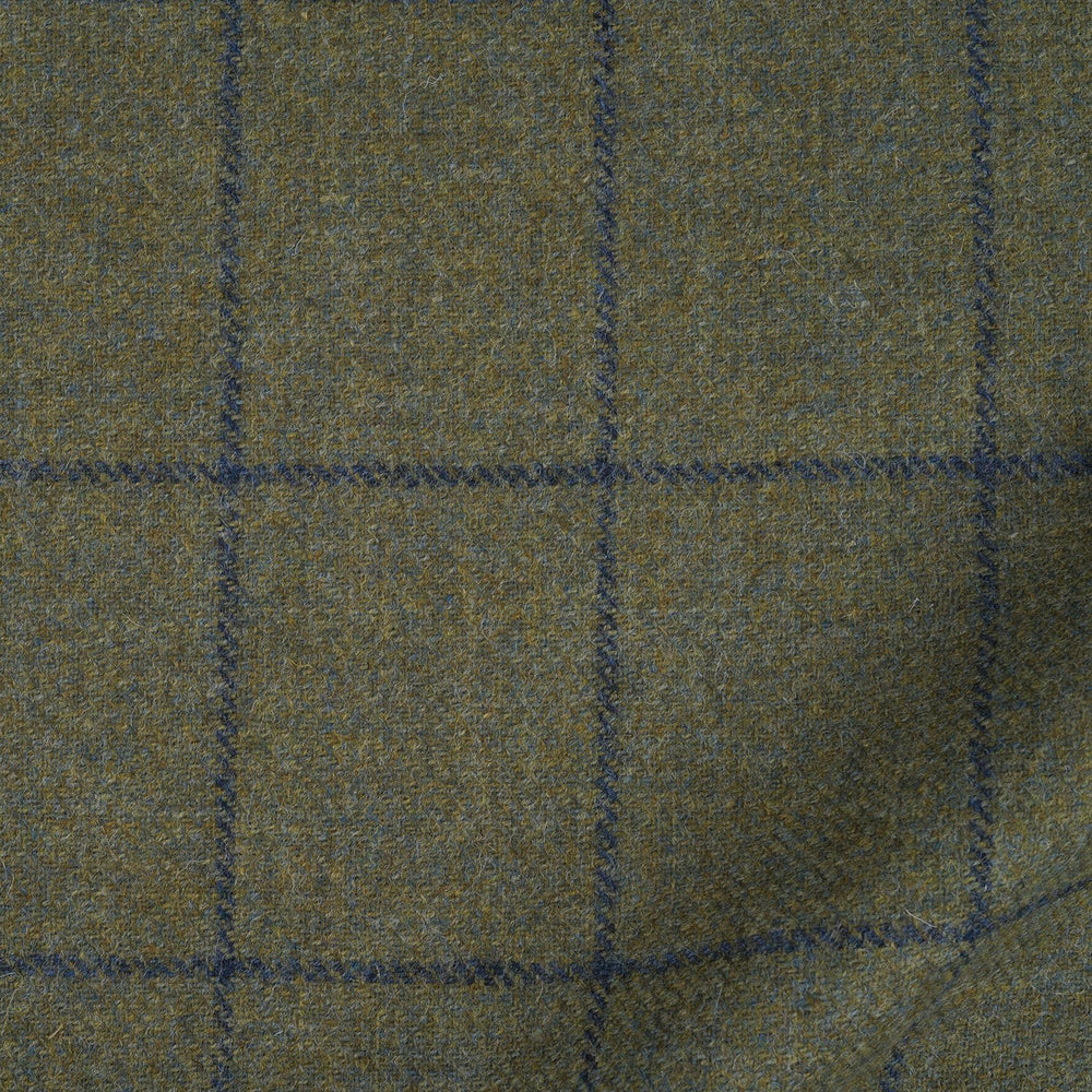 Dugdale White Rose Tweed: Drab Green Checks