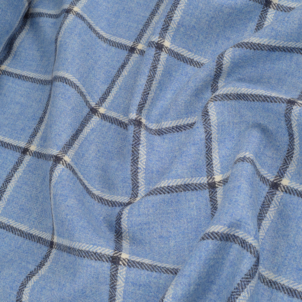 Dugdale Tweed: Blue Windowpane Jacket