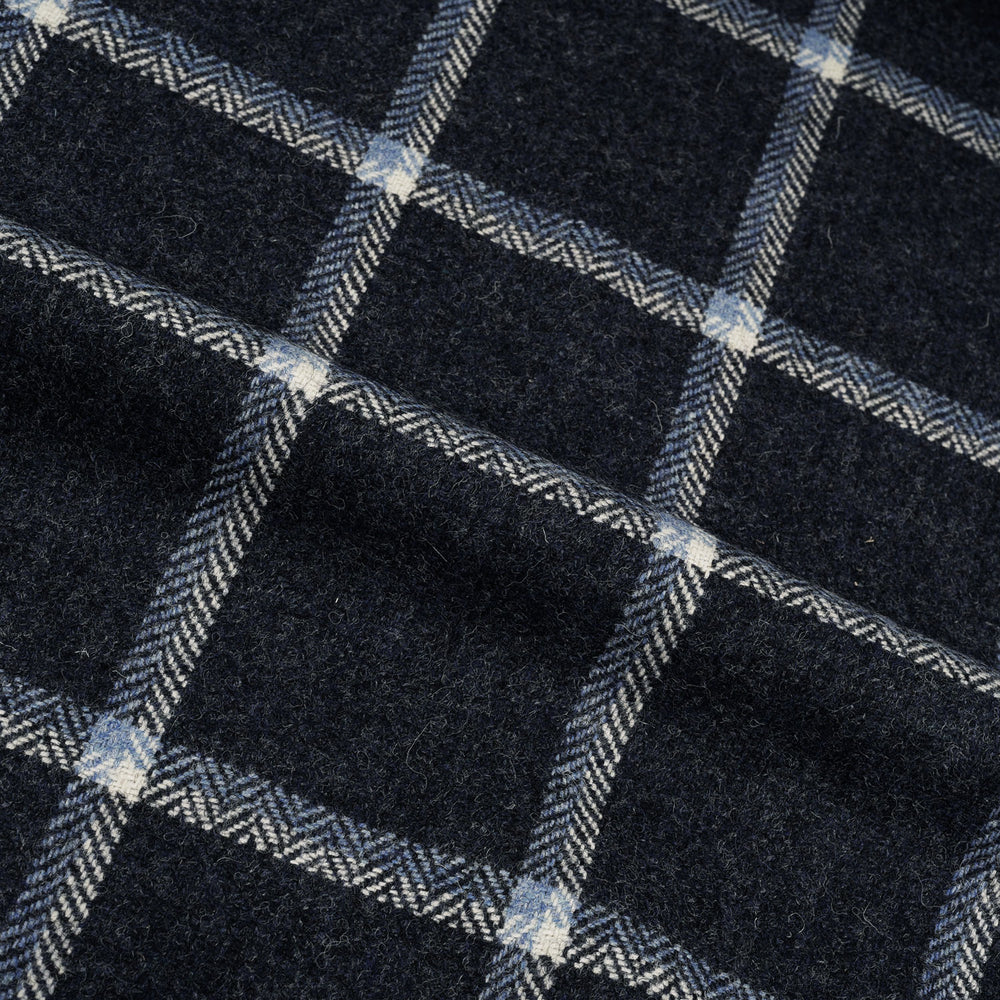Dugdale Tweed: Navy Windowpane Jacket (4384532627511)