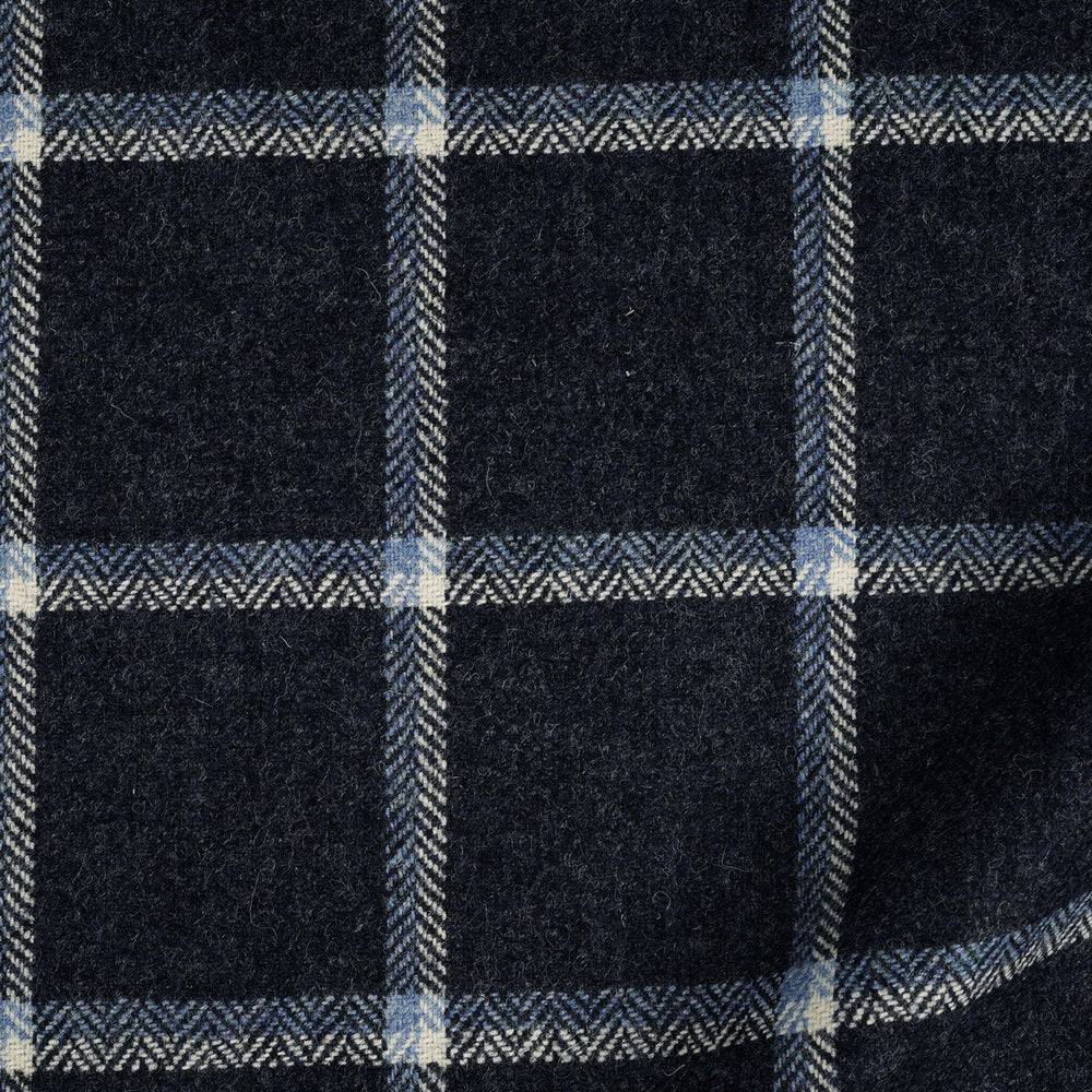 Dugdale Tweed: Navy Windowpane (4384532627511)
