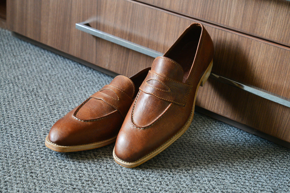 Tan Penny Loafers (7985860424)