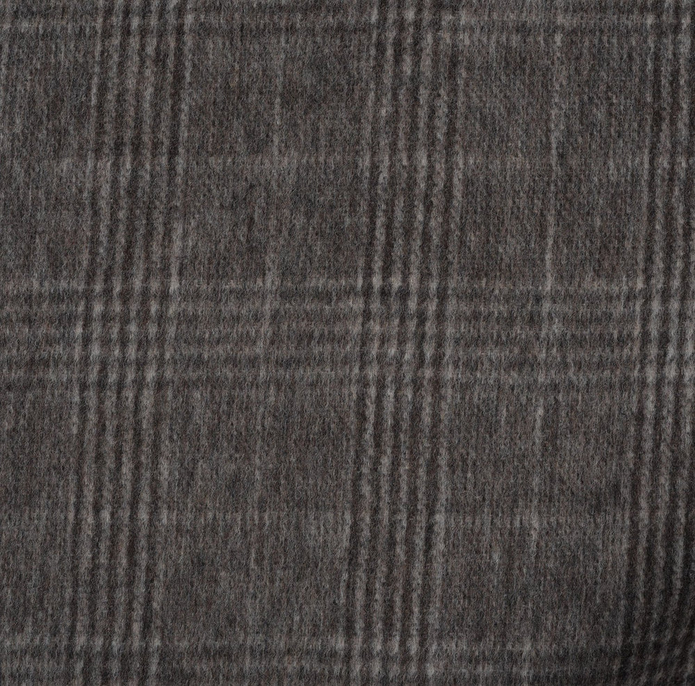 Loro Piana: Brown Glen Checks Cashmere