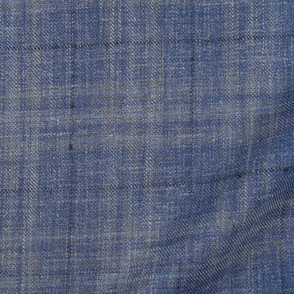 EThomas Cornflower Windowpane Checks Jacket (4366624292919)