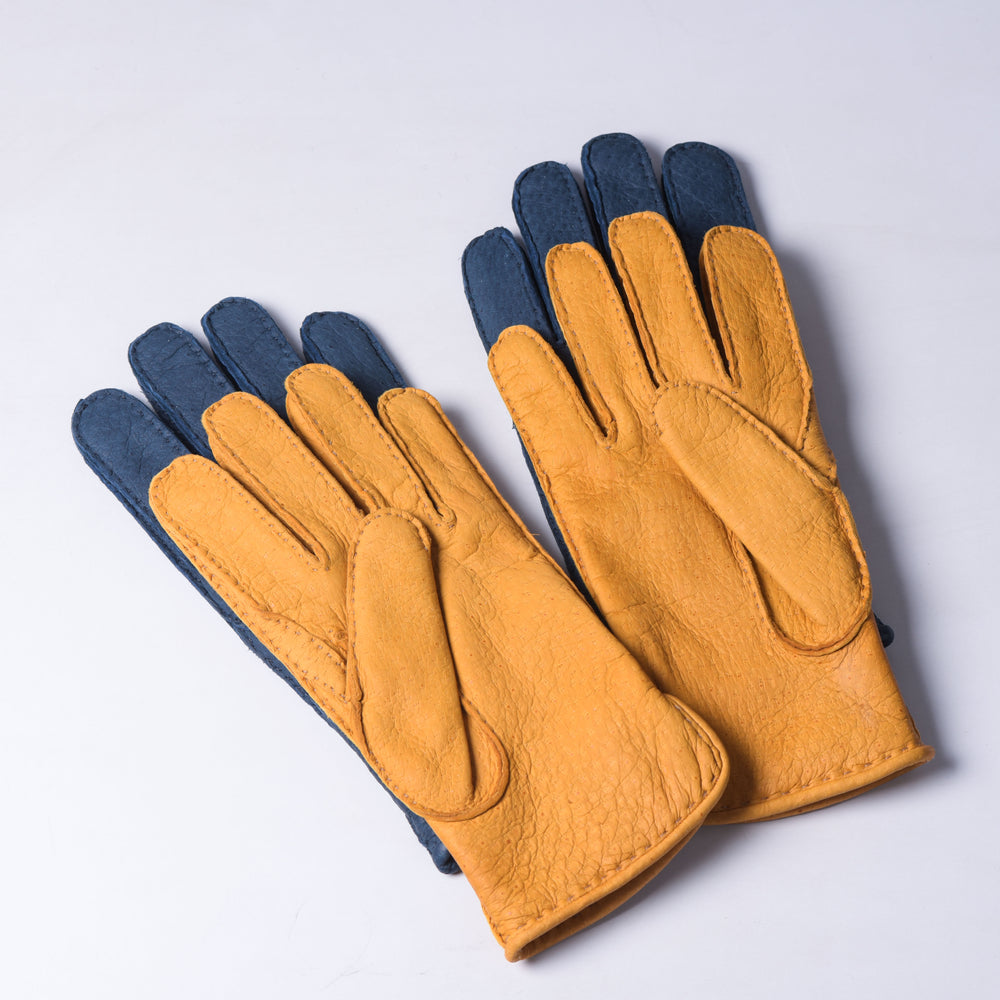 Peccary Gloves - Cashmere lined - Tan (4383120687159)