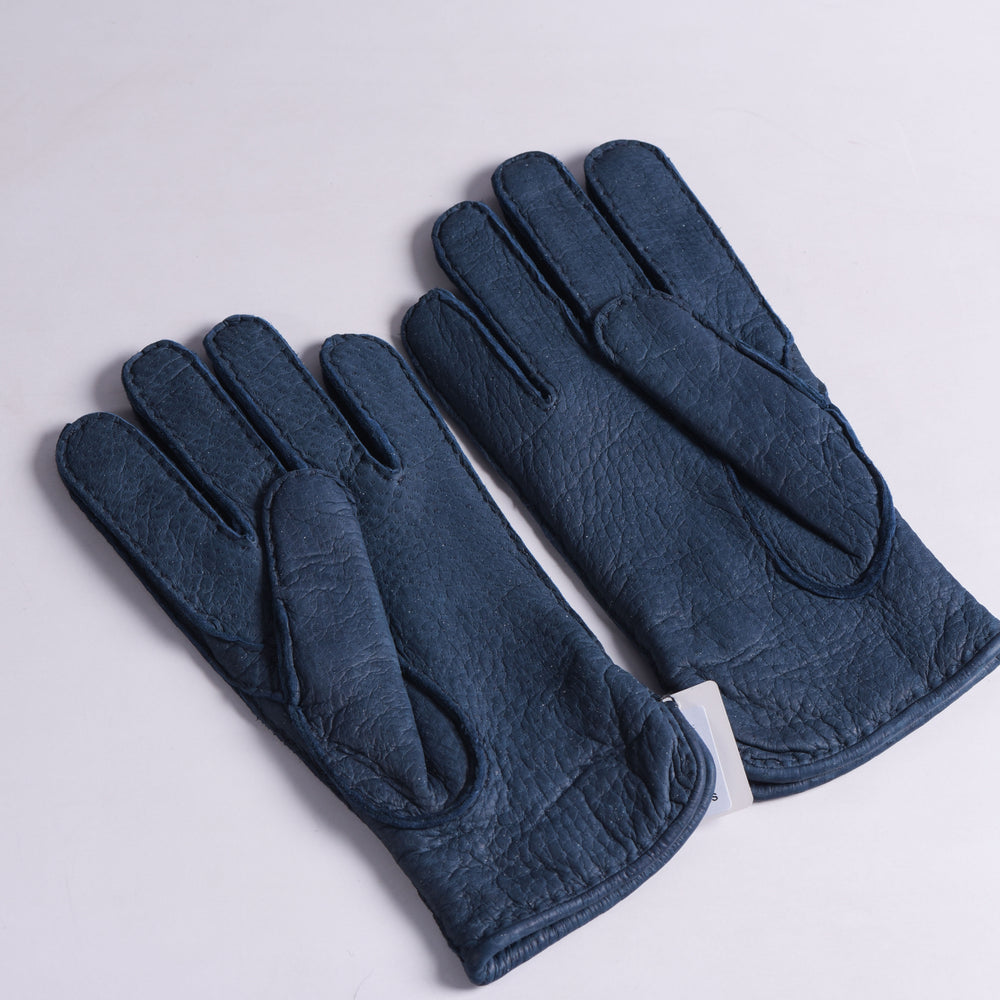 Peccary Gloves - Cashmere lined - Navy