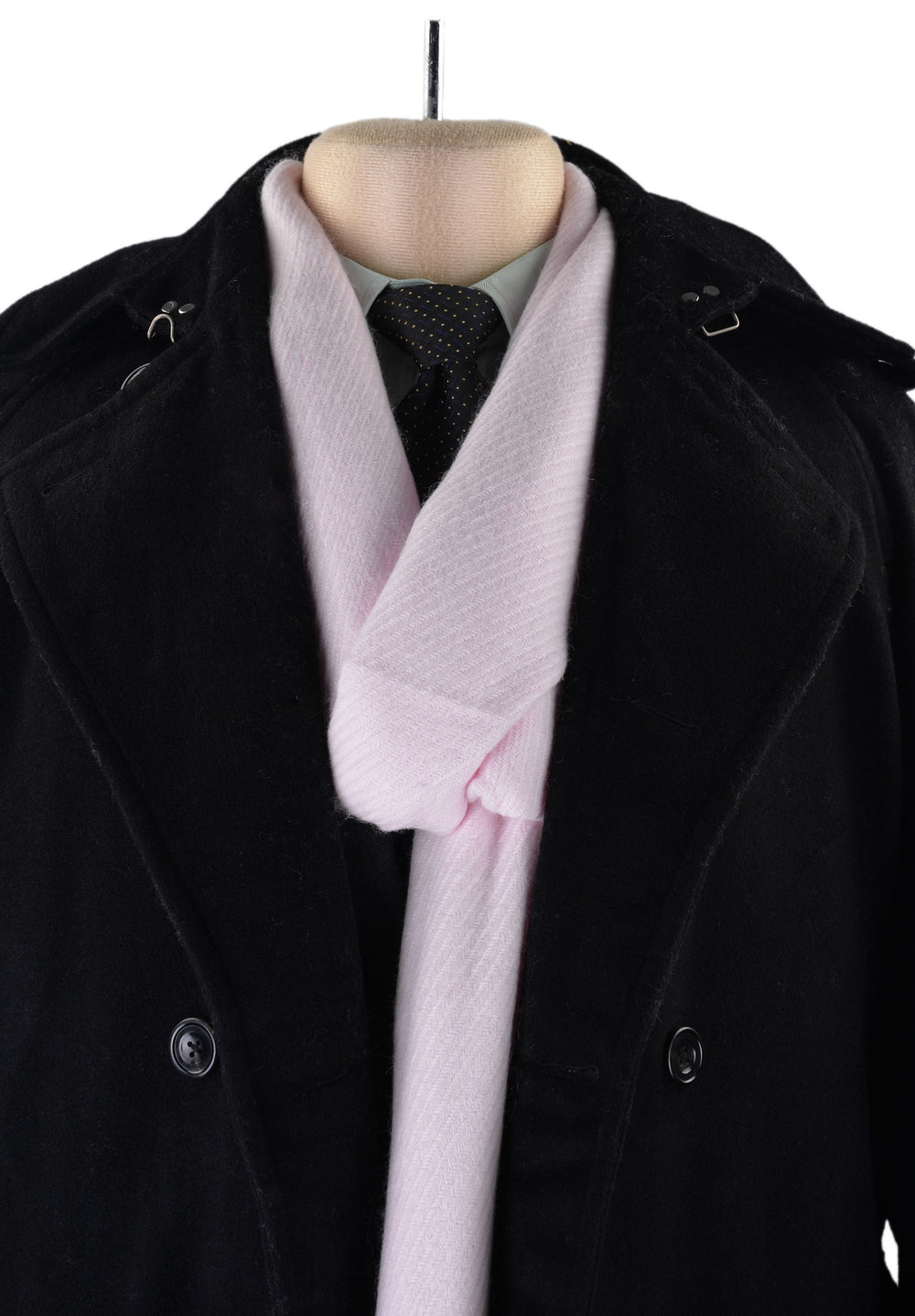 Cashmere Wool Scarf Light Pink Twill