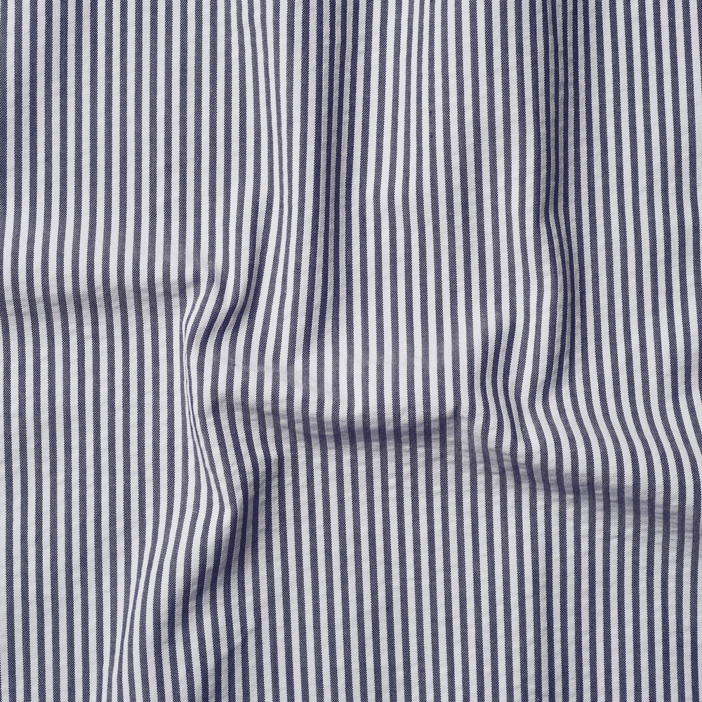 Blue White Candy Stripes Seersucker