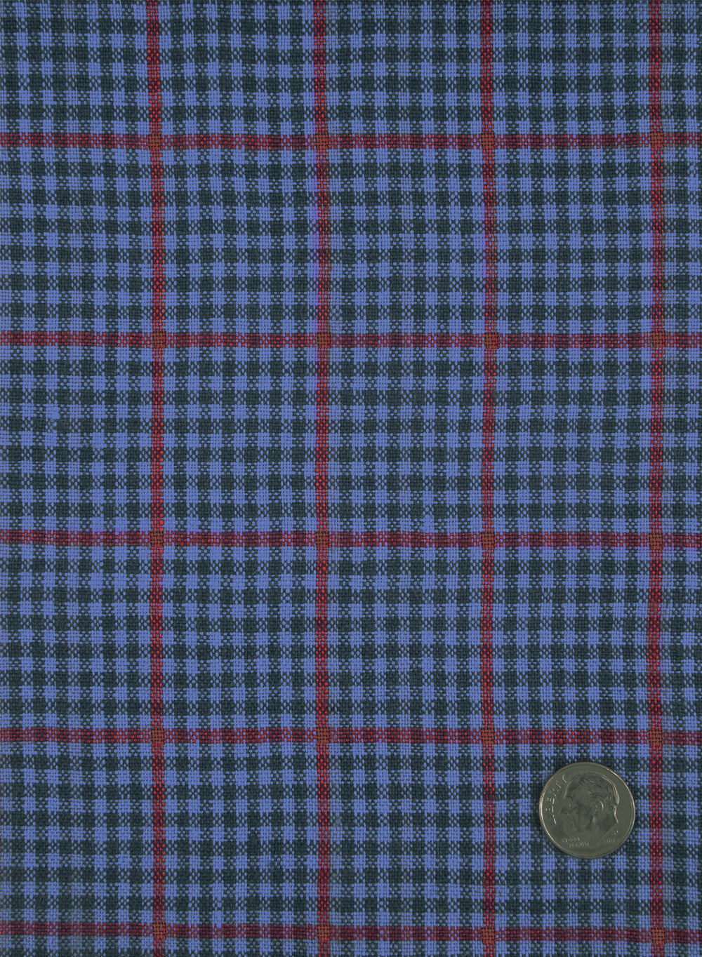 Dugdale Blue & Navy Gingham With Red Overcheck