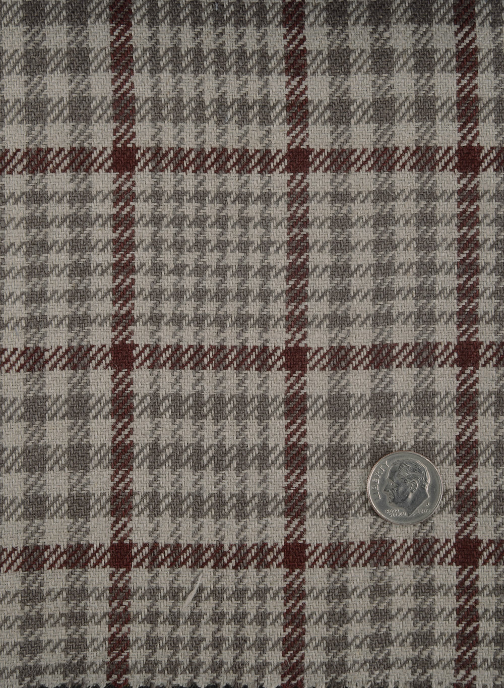 Dugdale Beige Lt Brown Check With Burgundy Overcheck