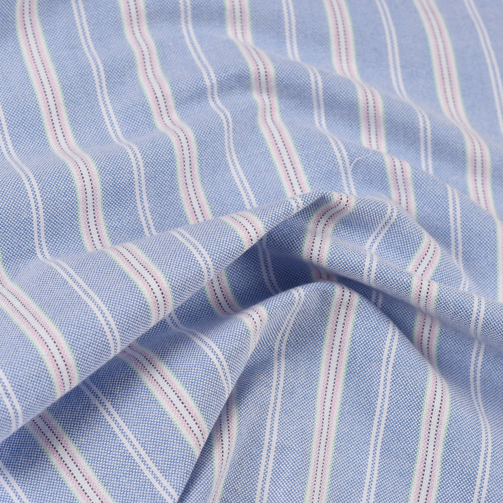 Oxford: Pink White Stripes on Blue (356239205)