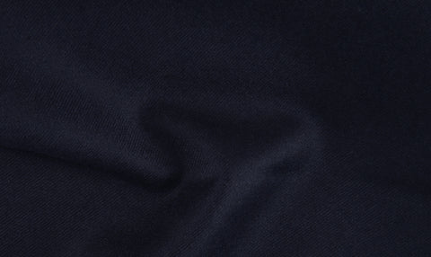EThomas Wool Cashmere: Dark Blue Twill Jacket