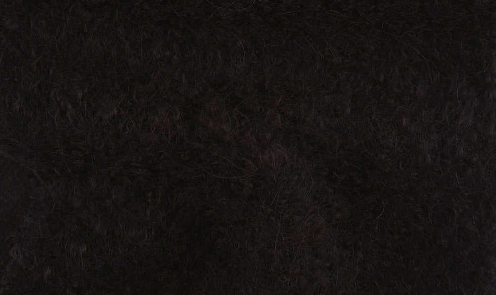 EThomas: Dark Brown Slubby Mohair Jacket