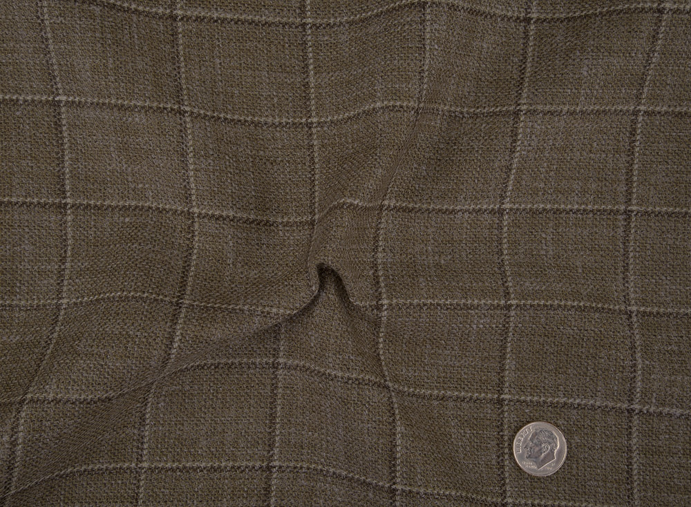 Ethomas Cedar Brown White Checks Jacket