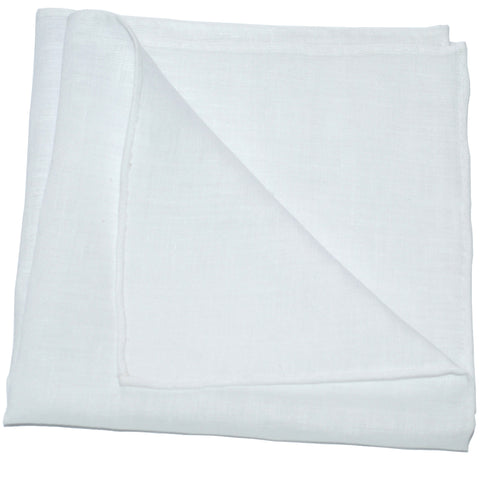 Pocket Square - Fine White Linen