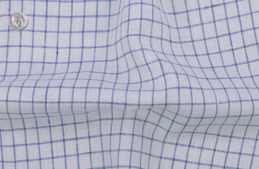 Linen: Navy Graph Checks