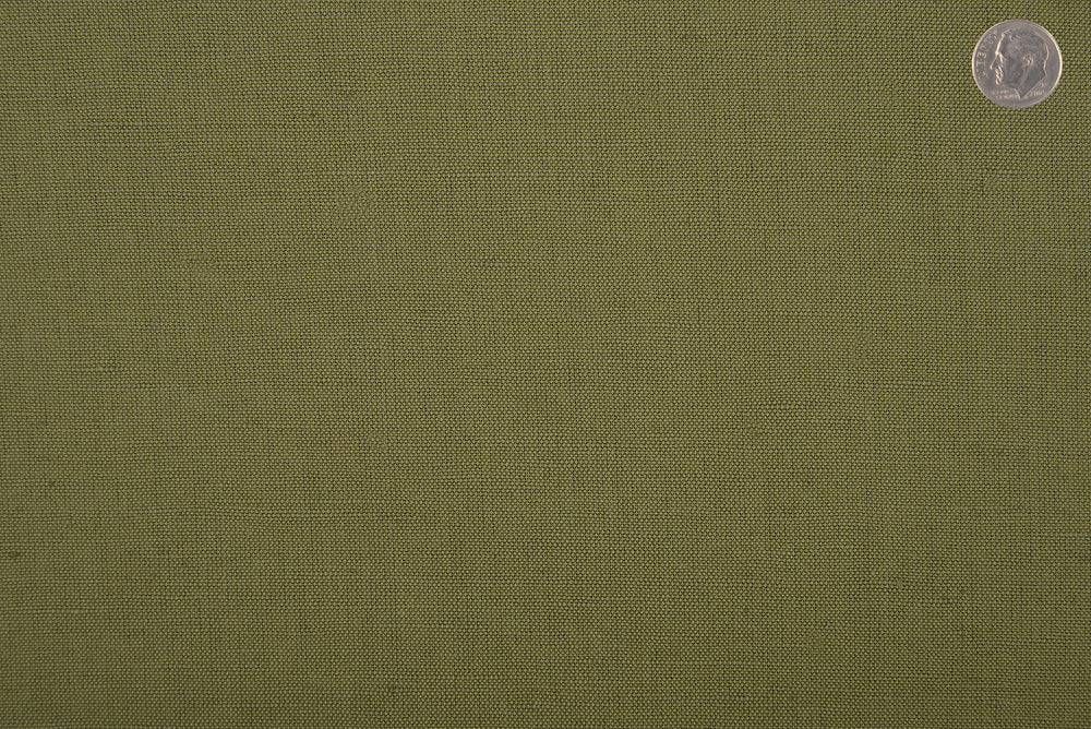 Linen Cotton: Military Green
