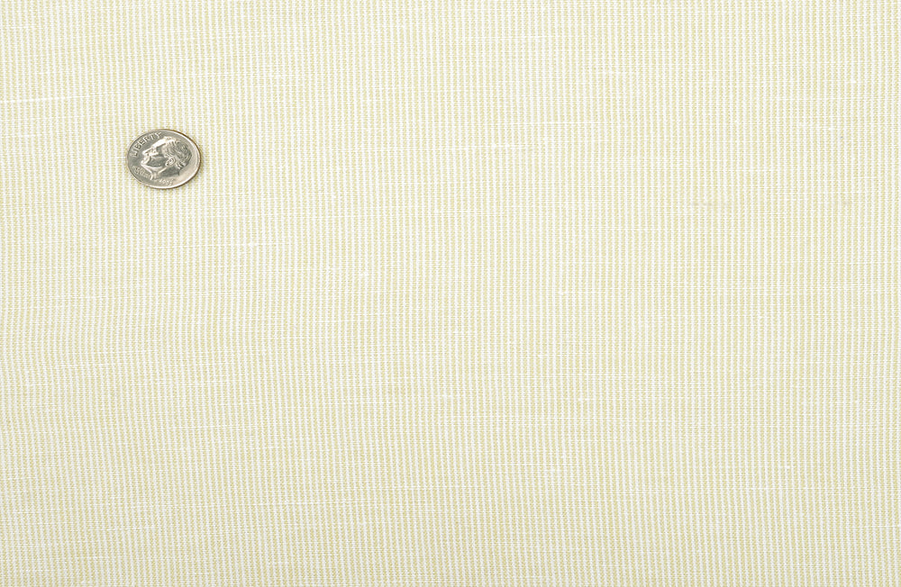 Linen Cotton: Pastel Yellow Chambray