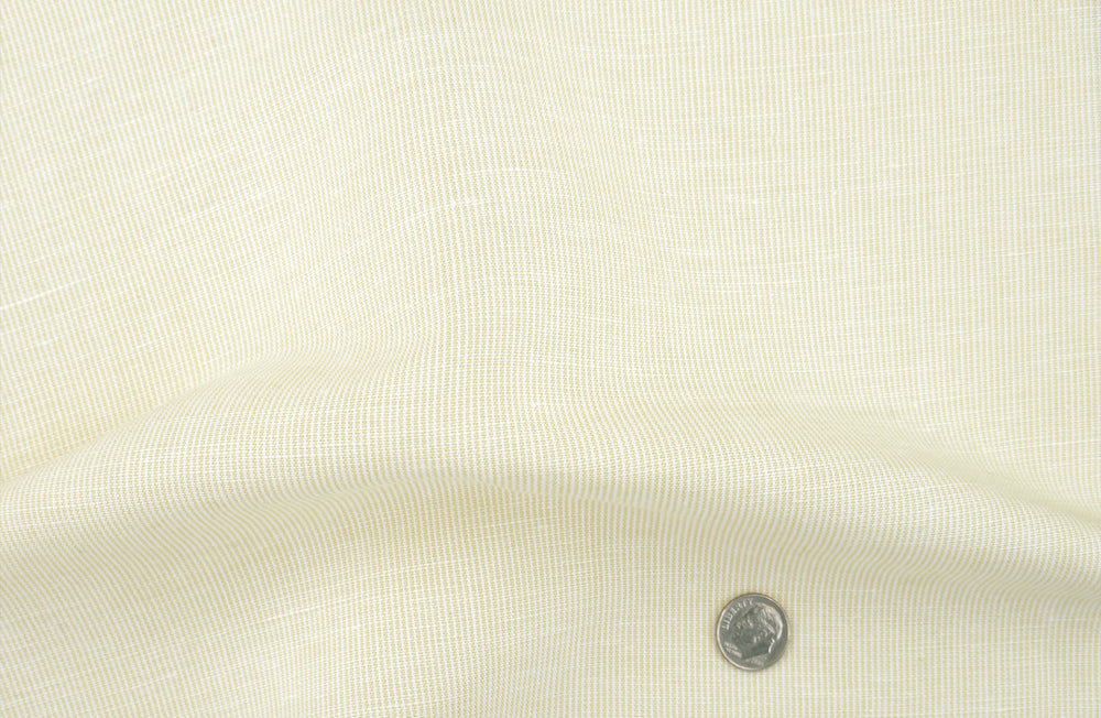 Linen Cotton: Pastel Yellow Chambray (910817476)