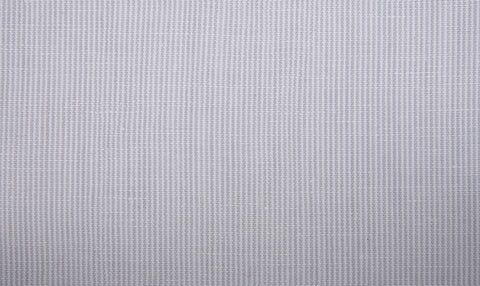 Cotton Linen: Grey Hairline Stripes On White