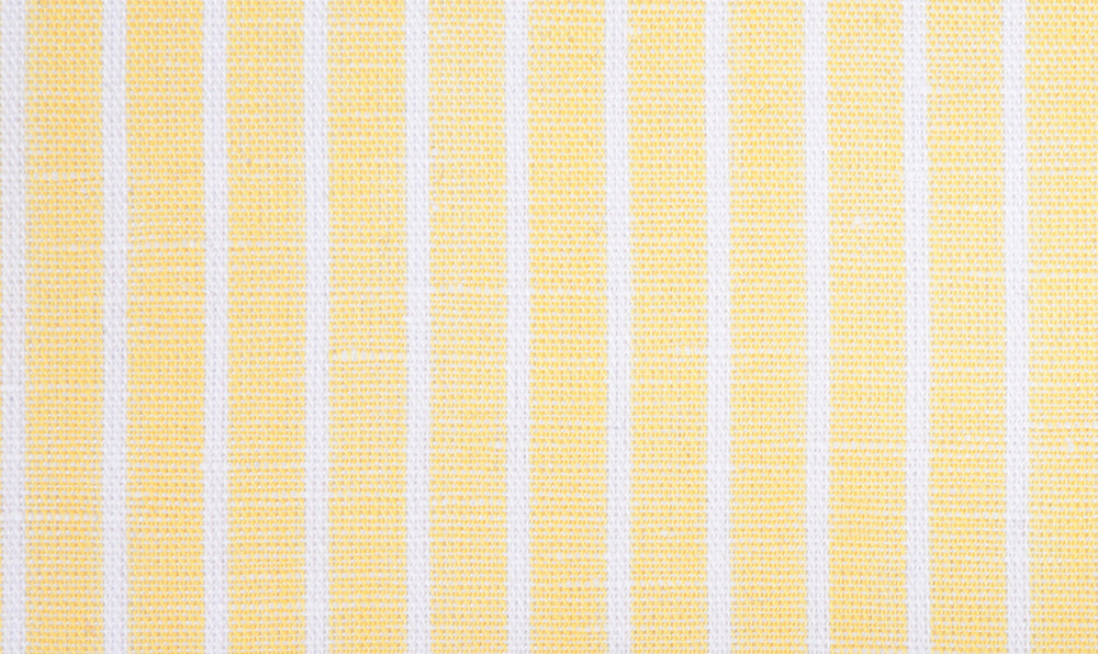 Cotton Linen: White Pencil Stripes On Pastel Yellow