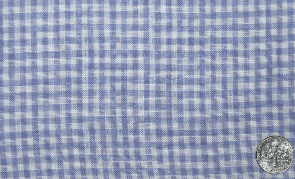Linen:Blue Mini Gingham