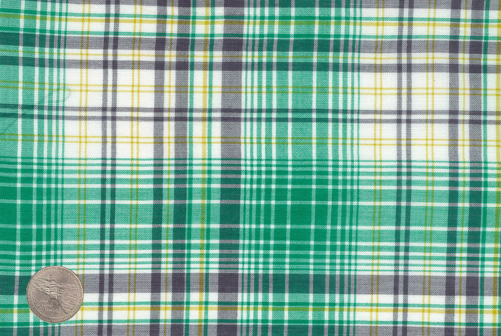 Summer Light Green Grey Madras