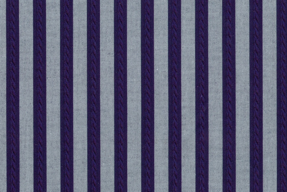 Grey Navy Bengal Stripes 120/2
