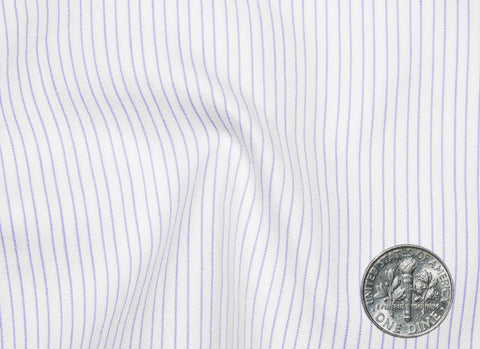 A Touch of Silk: Purple Pin Stripes With White: Natural Wrinkle Free
