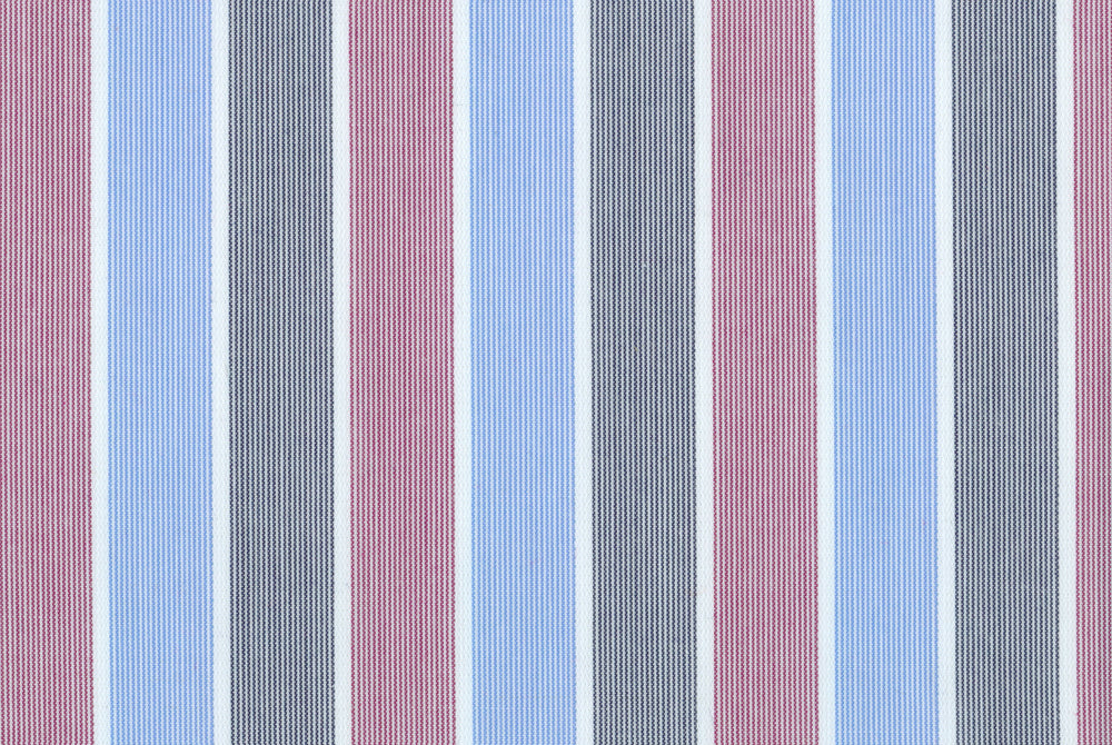 Red Blue Grey Tape Stripes with Silk